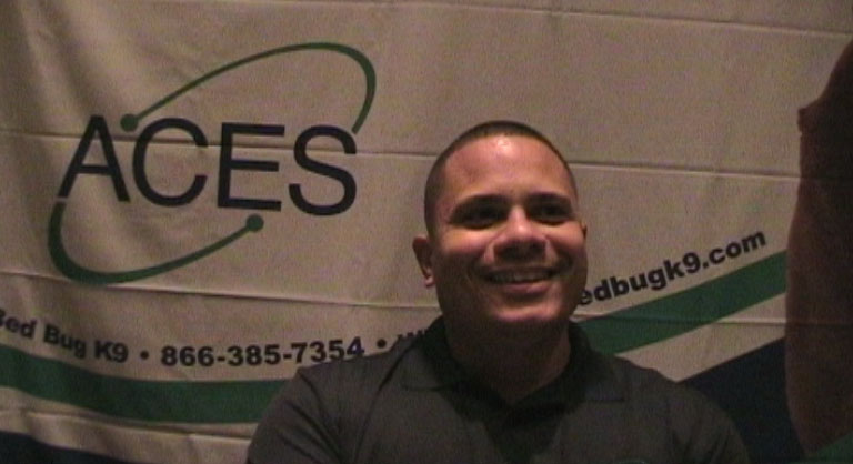 Ray Figueroa of ACES Bedbug K9